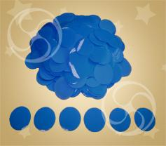 Конфетти полипропиленовое круглое голубое (CONFP02/2LB)
