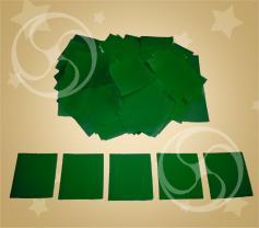 Конфетти полипропиленовое квадратное зеленое (CONFP11/2DG)