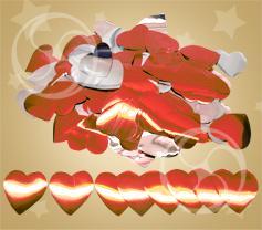 Конфетти металлизированное сердечки красно-серебристые (CONFMD04RD)