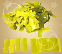 Конфетти полипропиленовое прямоугольное желтое