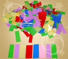 Конфетти полипропиленовое прямоугольное разноцветное
