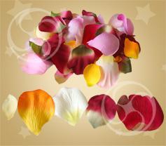 Лепестки розы из ткани разноцветные (FX-32)