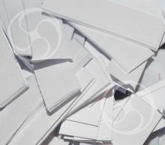 Конфетти бумажное прямоугольное белое (CONFPP10WH)