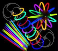 Светящаяся неоновая палочка-браслет 0,5х20см разноцветная