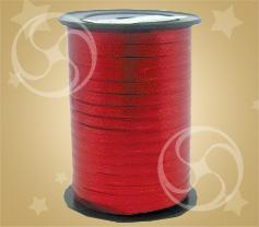 Лента металлизированная красная 228м
