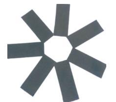 Конфетти прямоугольное серебро 100гр