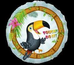Шар фольгированный 'Тукан тропический' 18'