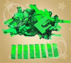 Конфетти металлизированное прямоугольное зеленое токонепроводящее (метафан) (FX-14)