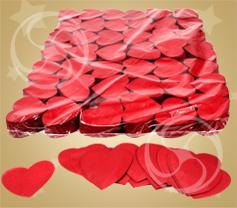Конфетти бумажное сердечки красные (100 гр) (CON04RD)