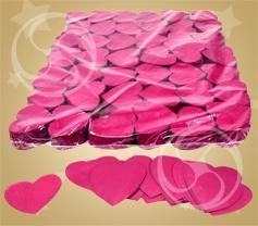 Конфетти бумажное сердечки розовые (100 гр) (CON04PK)