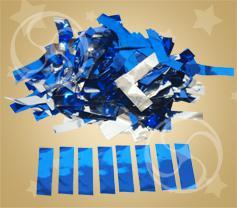 Конфетти металлизированное прямоугольное синее-серебристое (метафан) (CONFMD10DB)