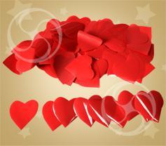 Конфетти полипропиленовое сердечки красные (CONFP04RD)