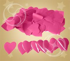 Конфетти полипропиленовое сердечки розовые (CONFP04PK)