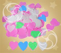 Конфетти полипропиленовое сердечки разноцветные (CONFP04MC)