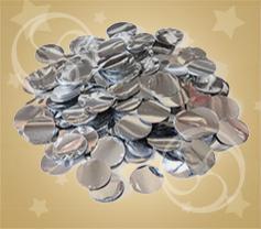 Конфетти металлизированное круглое серебристое (CONFM02SL)