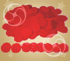 Конфетти полипропиленовое круглое красное (CONFP02RD)