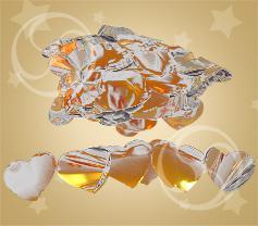 Конфетти металлизированное сердечки золотисто-серебристые (CONFMD04GL)