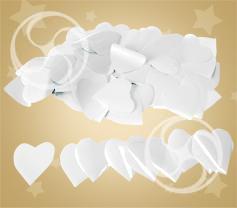 Конфетти полипропиленовое сердечки белые