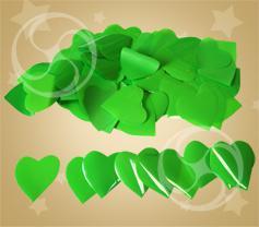 Конфетти полипропиленовое сердечки зеленые