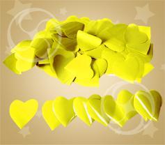 Конфетти полипропиленовое сердечки желтые (CONFP04YL)