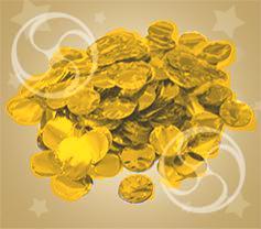 Конфетти металлизированное круглое золотистое