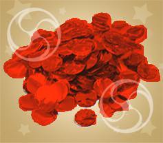 Конфетти металлизированное круглое красное (CONFM02RD)