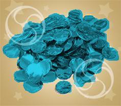 Конфетти металлизированное круглое синее (CONFM02DB)