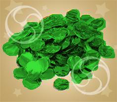 Конфетти металлизированное круглое зеленое (CONFM02DG)
