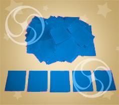Конфетти полипропиленовое квадратное синее (CONFP11DB)