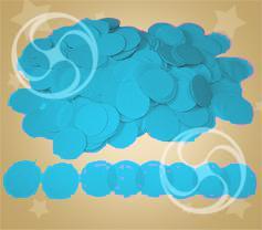 Конфетти полипропиленовое круглое голубое (CONFP02LB)