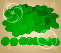 Конфетти полипропиленовое круглое зеленое (CONFP02DG)