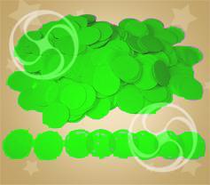Конфетти полипропиленовое круглое салатовое (CONFP02LG)