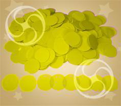 Конфетти полипропиленовое круглое желтое (CONFP02YL)