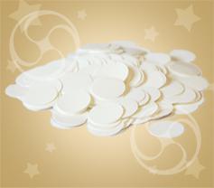 Конфетти полипропиленовое круглое белое (CONFP02WH)
