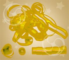 Серпантин металлизированный золотистый-серебристый (SERP01GL)