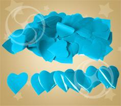 Конфетти полипропиленовое сердечки голубые (CONFP04LB)