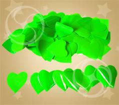 Конфетти полипропиленовое сердечки салатовые (CONFP04LG)