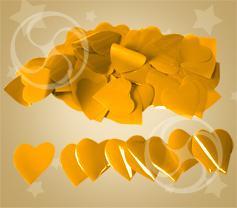 Конфетти полипропиленовое сердечки оранжевые (CONFP04OR)