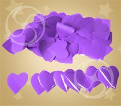 Конфетти полипропиленовое сердечки фиолетовые (CONFP04PR)