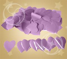 Конфетти полипропиленовое сердечки сиреневые (CONFP04LV)