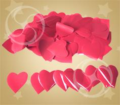 Конфетти полипропиленовое сердечки малиновые (CONFP04RP)