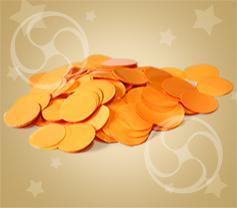 Конфетти полипропиленовое круглое оранжевое (CONFP02OR)