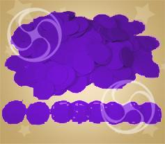 Конфетти полипропиленовое круглое фиолетовое (CONFP02PR)