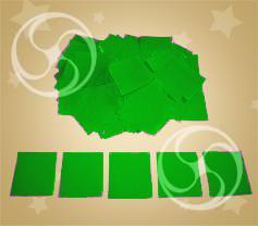 Конфетти полипропиленовое квадратное зеленое (CONFP11DG)