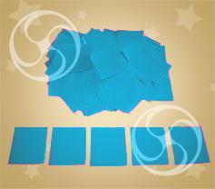 Конфетти полипропиленовое квадратное голубое (CONFP11LB)