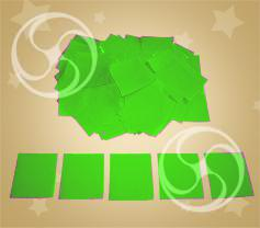 Конфетти полипропиленовое квадратное салатовое (CONFP11LG)