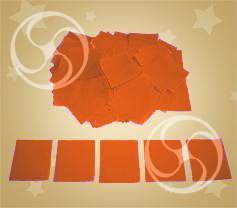 Конфетти полипропиленовое квадратное оранжевое (CONFP11OR)
