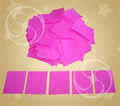 Конфетти полипропиленовое квадратное розовое