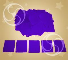 Конфетти полипропиленовое квадратное фиолетовое (CONFP11PR)