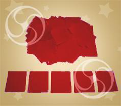 Конфетти полипропиленовое квадратное красное (CONFP11RD)